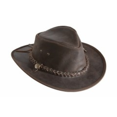 Mongo Leather Country Hat Bruin