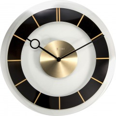 Nextime klok Retro Glass 31 Black 2790ZW