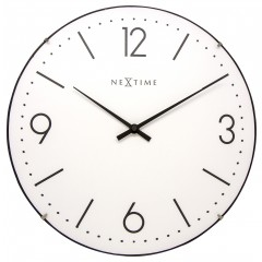 Nextime klok Basic Dome Glass 35 White 3157WI