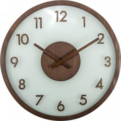 Nextime klok Frosted Wood 50 Brown 3205BR