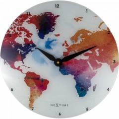 Nextime klok Colorful World 8187