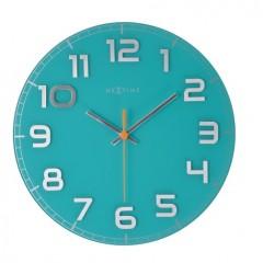 Nextime klok Classy Round Turquoise 8817tq