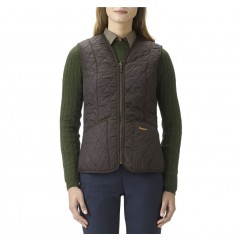 Barbour Fleece Betty Waistcoat Dark Brown