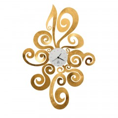 A&M Noemi wall clock Gold