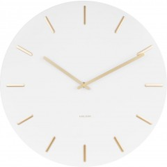 Karlsson Klok Charm white steel with gold KA5716WH